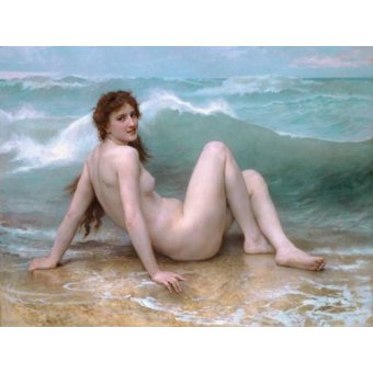 - Cuadro -The Wave, 1896- - Bouguereau, William