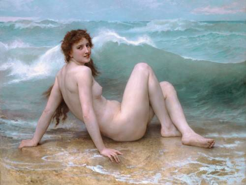 cuadros-de-desnudos - Cuadro -The Wave, 1896- - Bouguereau, William