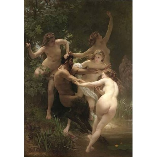 Cuadro -Nymphs and Satyr, 1873-
