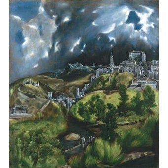 - Cuadro -Vista de Toledo, 1596- - Greco, El (D. Theotocopoulos)