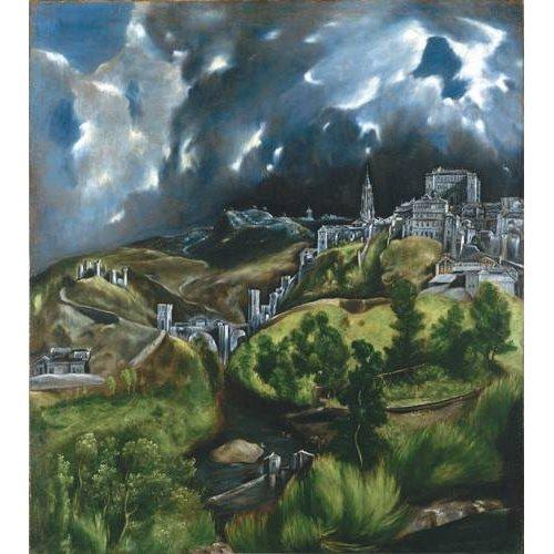cuadros de paisajes - Cuadro -Vista de Toledo, 1596-