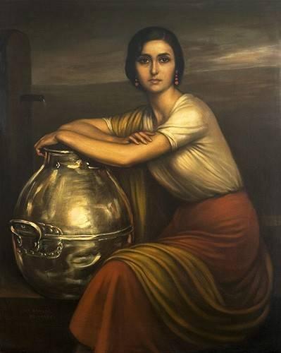 cuadros-de-retrato - Cuadro -Fuensanta- - Romero de Torres, Julio