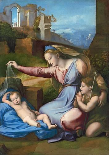 cuadros-religiosos - Cuadro -La Virgen Del Velo- - Rafael, Sanzio da Urbino Raffael