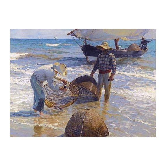 cuadros de marinas - Cuadro -Los pescadores valencianos-