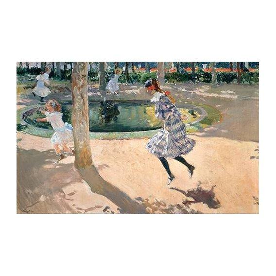 cuadros de retrato - Cuadro -La Cuerda de Saltar-