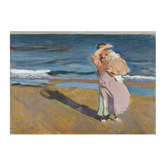 cuadros de retrato - Cuadro -Pescadora con su hijo-