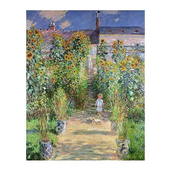 cuadros de paisajes - Cuadro -Jardin de Monet en Vétheuil, 1880-