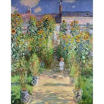 Cuadro -Jardin de Monet en Vétheuil, 1880- - Monet, Claude