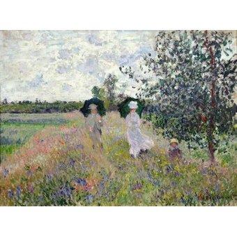 Cuadro -Promenade pres d'Argenteuil, 1873- - Monet, Claude