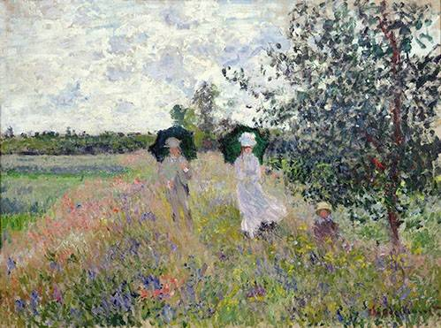 cuadros-de-paisajes - Cuadro -Promenade pres d'Argenteuil, 1873- - Monet, Claude