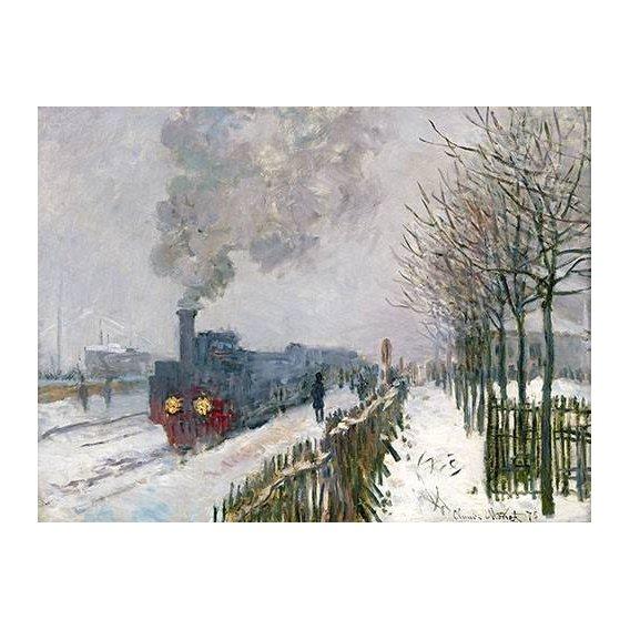 cuadros de paisajes - Cuadro -Train dans la neige, La Locomotive, 1875-