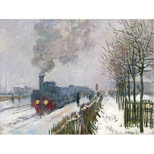 Cuadro -Train dans la neige, La Locomotive, 1875-