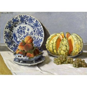 - Cuadro -Nature morte au melon- - Monet, Claude