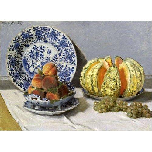 cuadros de bodegones - Cuadro -Nature morte au melon-
