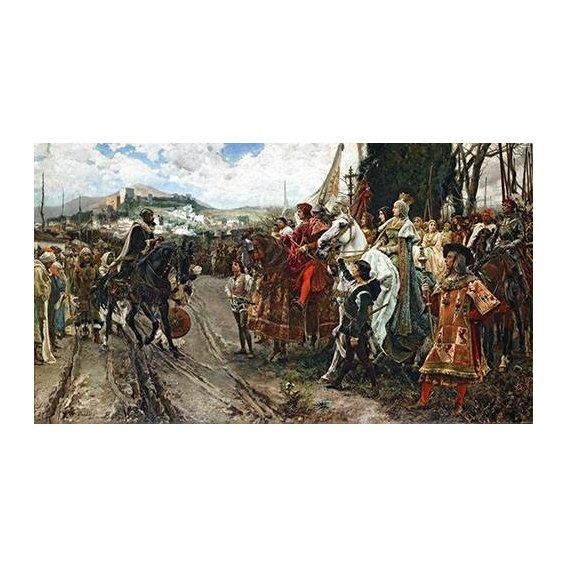 cuadros de retrato - Cuadro -La Rendición de Granada-