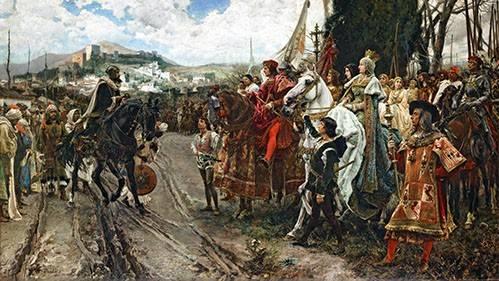 cuadros-de-retrato - Cuadro -La Rendición de Granada- - Pradilla, Francisco