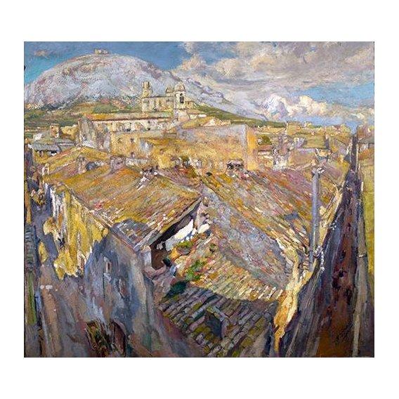 cuadros de paisajes - Cuadro -Pueblo en L'Empordá-