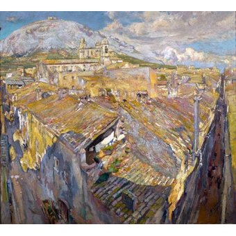 - Cuadro -Pueblo en L'Empordá- - Gimeno, Francesc