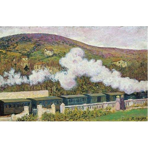 cuadros de paisajes - Cuadro -El paso del tren-