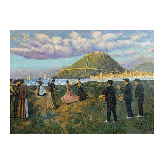 cuadros de paisajes - Cuadro -Baile en El Antiguo, San Sebastian-