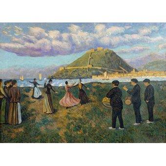 - Cuadro -Baile en El Antiguo, San Sebastian- - Regoyos, Dario de