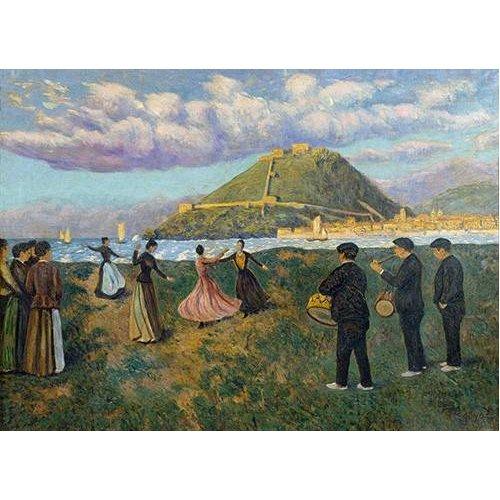 Cuadro -Baile en El Antiguo, San Sebastian-