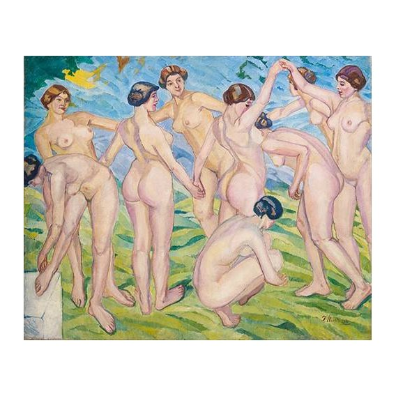 cuadros de retrato - Cuadro -Desnudo (mujeres bailando en circulo)-