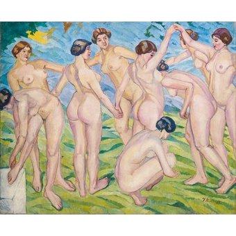 cuadros de desnudos - Cuadro -Desnudo (mujeres bailando en circulo)- - Iturrino, Francisco