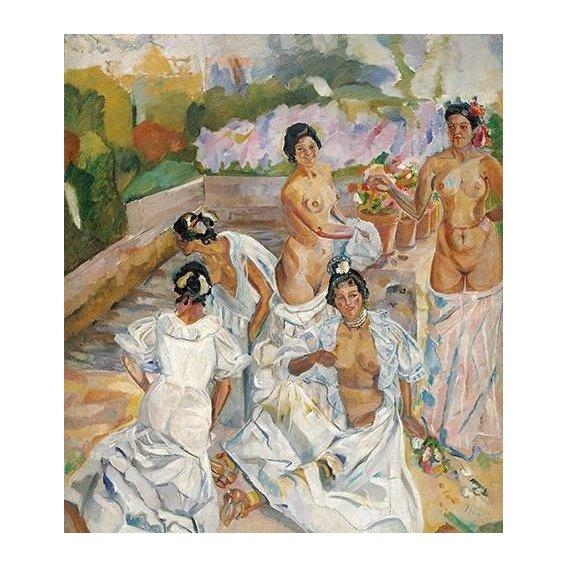 cuadros de retrato - Cuadro -El Baño (Sevilla)-