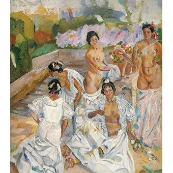 cuadros de desnudos - Cuadro -El Baño (Sevilla)- - Iturrino, Francisco