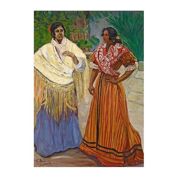 cuadros de retrato - Cuadro -Dos Gitanas-