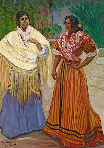 cuadros-de-retrato - Cuadro -Dos Gitanas- - Iturrino, Francisco