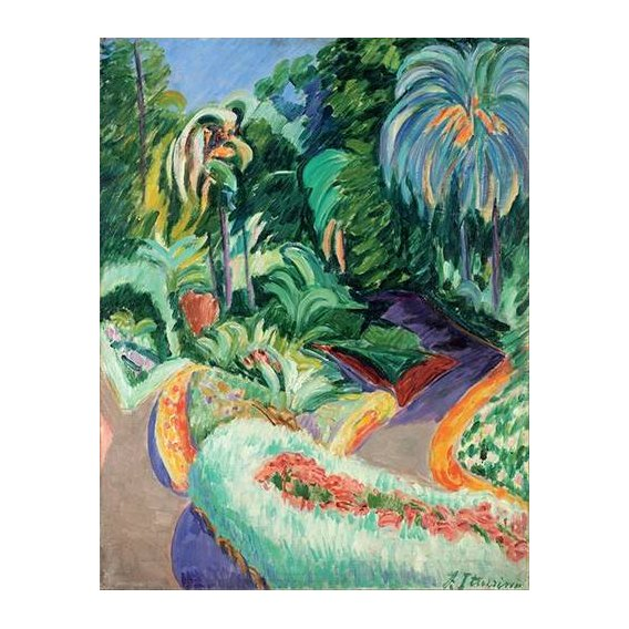 cuadros de paisajes - Cuadro -Jardin-