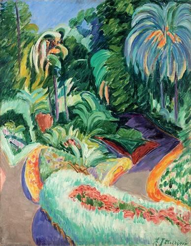 cuadros-de-paisajes - Cuadro -Jardin- - Iturrino, Francisco