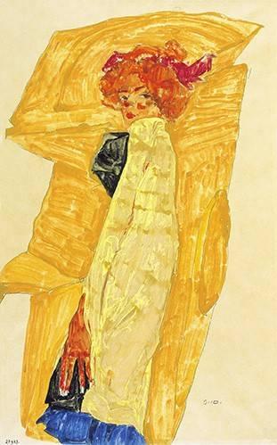 cuadros-de-retrato - Cuadro -Alb Wien- - Schiele, Egon