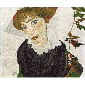 - Cuadro -Crescent of Houses, 1915- - Schiele, Egon