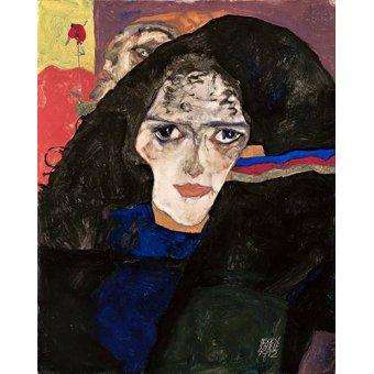 - Cuadro -Mourning Woman, 1912- - Schiele, Egon