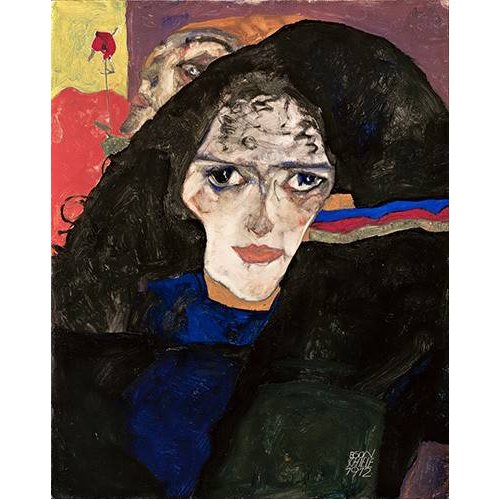 cuadros de retrato - Cuadro -Mourning Woman, 1912-
