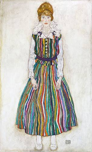 cuadros-de-retrato - Cuadro -Portrait of Edith (the artist's wife), 1915- - Schiele, Egon