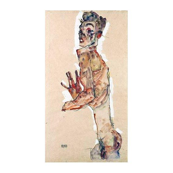 cuadros de retrato - Cuadro -Self-Portrait with Splayed Fingers-