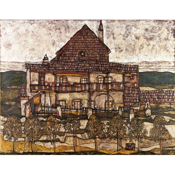 cuadros de paisajes - Cuadro -House with Shingle Roof (Old House II), 1915-
