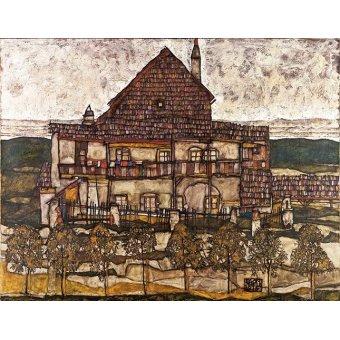 - Cuadro -House with Shingle Roof (Old House II), 1915- - Schiele, Egon