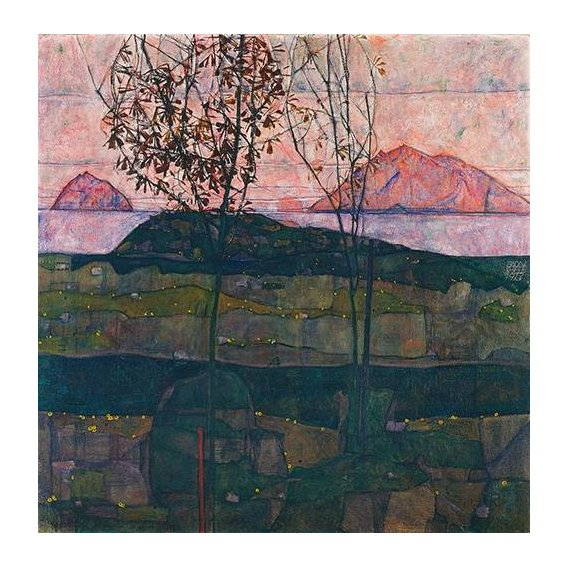 cuadros de paisajes - Cuadro -Setting Sun, 1913-