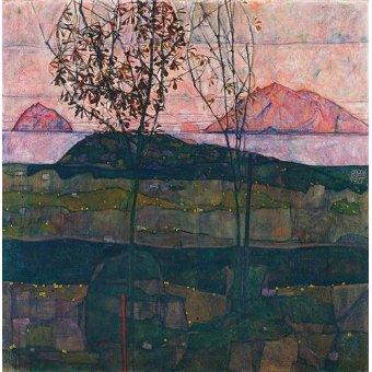 - Cuadro -Setting Sun, 1913- - Schiele, Egon