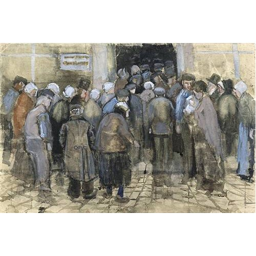cuadros de retrato - Cuadro -The Poor and Money, 1882-