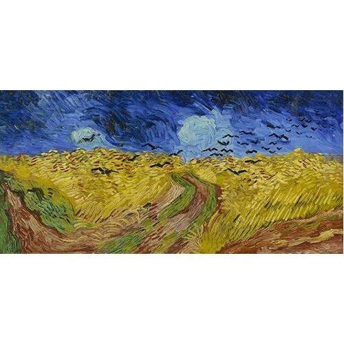 cuadros de paisajes - Cuadro -Wheatfield with Crows, 1890-