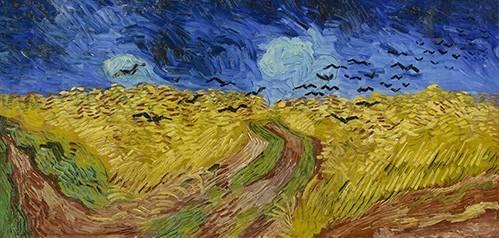 cuadros-de-paisajes - Cuadro -Wheatfield with Crows, 1890- - Van Gogh, Vincent