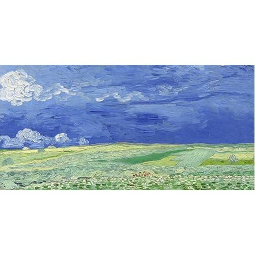 Cuadro -Wheatfield under Thunderclouds-