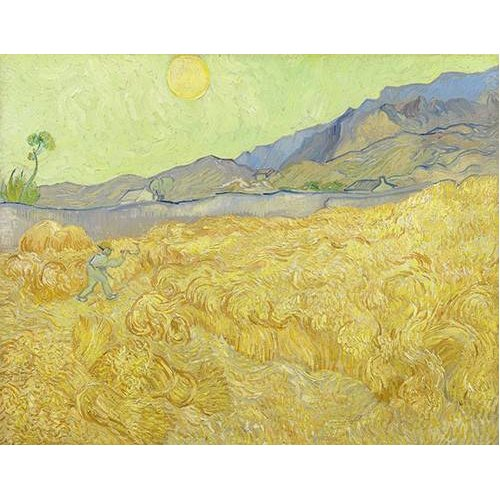 cuadros de paisajes - Cuadro -Wheatfield with a Reaper, 1890-