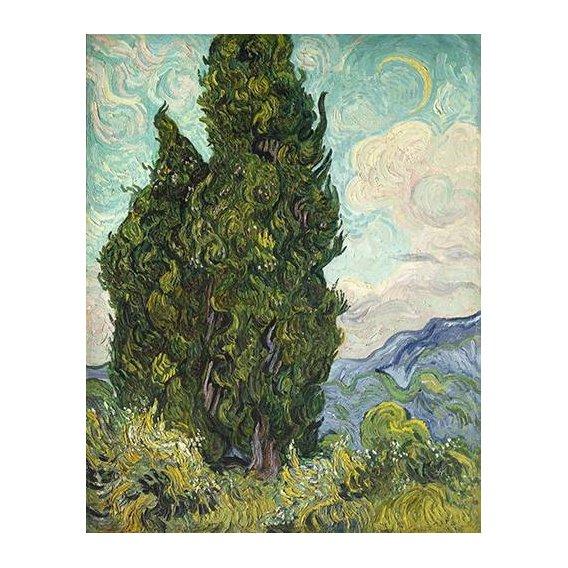 cuadros de paisajes - Cuadro -Cipreses-